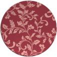 rug #295297 | round pink rug