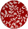 rug #295321   round red natural rug