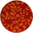 rug #295325 | round orange popular rug