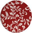 rug #295329 | round red natural rug