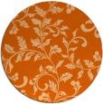 rug #295341   round red-orange natural rug