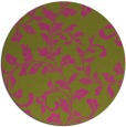 rug #295409 | round light-green natural rug