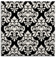 rug #295789 | square black damask rug