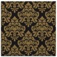 rug #295805 | square black damask rug