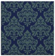rug #295817 | square blue damask rug