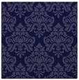 rug #295869 | square blue-violet damask rug