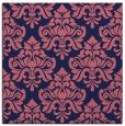 rug #295877 | square blue-violet damask rug