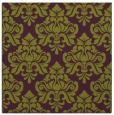 rug #296013 | square purple damask rug