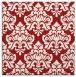 rug #296033 | square red damask rug