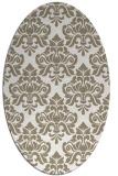 rug #296137 | oval beige traditional rug