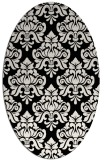 rug #296141 | oval black traditional rug