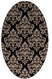 rug #296149 | oval beige traditional rug