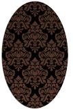 rug #296153 | oval black traditional rug