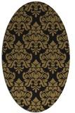 rug #296157 | oval brown damask rug