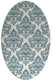 rug #296161 | oval white traditional rug