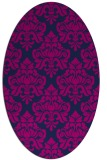 rug #296165 | oval pink traditional rug