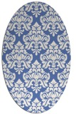rug #296177 | oval blue damask rug