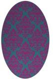 rug #296201   oval pink damask rug