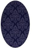 rug #296221 | oval blue-violet damask rug