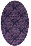 rug #296233 | oval purple rug