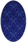 rug #296241 | oval blue-violet traditional rug
