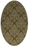 rug #296257   oval brown damask rug