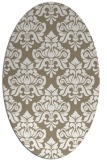 rug #296277 | oval white damask rug