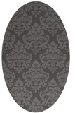 rug #296285 | oval brown damask rug