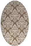 rug #296289 | oval mid-brown rug