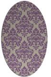 rug #296317 | oval purple damask rug