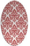 rug #296360 | oval damask rug