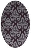 rug #296373   oval purple traditional rug