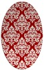 rug #296377   oval red traditional rug