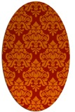 rug #296381 | oval red traditional rug