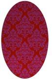 rug #296389   oval red damask rug
