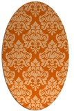 rug #296397 | oval red-orange damask rug
