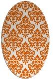rug #296405 | oval red-orange damask rug