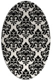 rug #296409 | oval black traditional rug