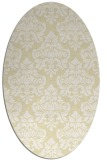 rug #296429 | oval white damask rug