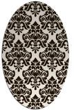 rug #296433   oval brown damask rug