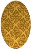 rug #296441 | oval light-orange damask rug