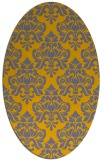 rug #296451 | oval damask rug