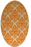 rug #296453   oval beige damask rug