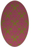 rug #296465   oval pink traditional rug