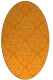 rug #296481 | oval light-orange traditional rug