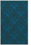 rug #296569 |  blue damask rug