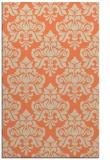 rug #296685    orange damask rug