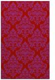 rug #296741    red damask rug