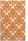 rug #296757    red-orange damask rug