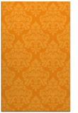 rug #296833 |  light-orange damask rug
